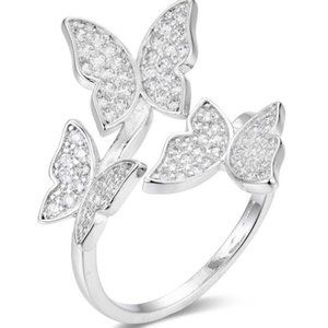 Gorgeous Butterfly Ring, pandoraStyle, Size 7